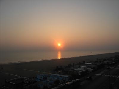 Sonnenaufgang in Rimini / Italien