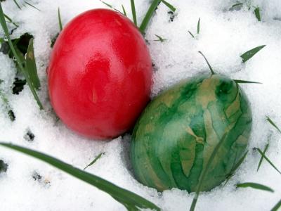 Verschneites Osterfest