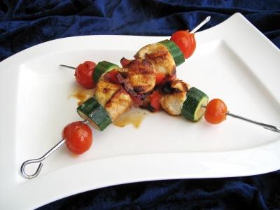 Gemüse-Fleisch-Spieße I