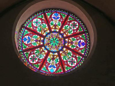 Kirchenfenster im Mecklenburger Dom in Schwerin