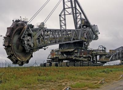 Schaufelradbagger F 60 im Braunkohletagebau