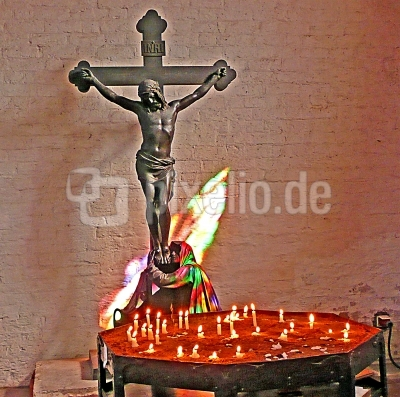 Maria am Kreuz  Jesu