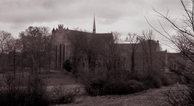Kloster Chorin in gruselig