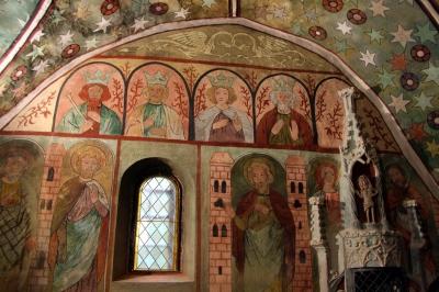 Gotische Malereien oder Heilige und Könige