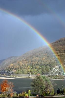 Regenbogen am Mittelrhein