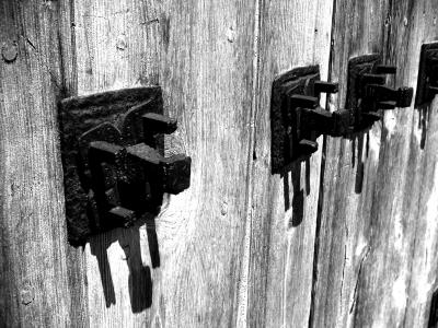 Holztor Detail