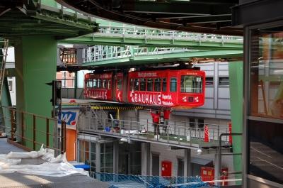 Wartungsarbeiten Wuppertaler Schwebebahn