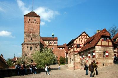 In der Kaiserburg von Nürnberg