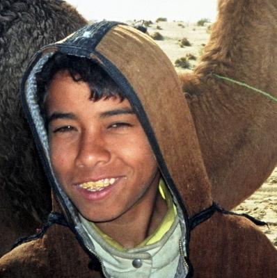 Ein freundlicher Kameltreiber in Tunesien