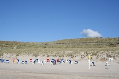 Strandkörbe vor Wenningstedt auf Sylt