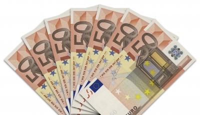 Geldscheine: 50-Euro-Fächer