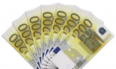 Geldscheine: 200-Euro-Fächer