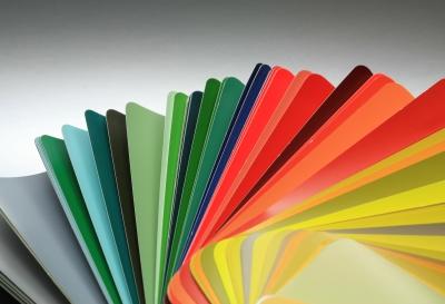 Farbfächer mit RAL-Farben