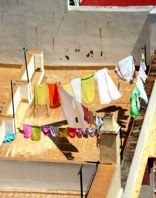 Wäsche im Wind