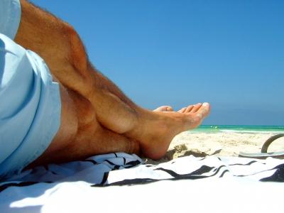 Strandurlaub - Selbstportrait