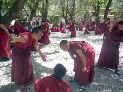 Im Serakloster ( in der Nähe von Lhasa )