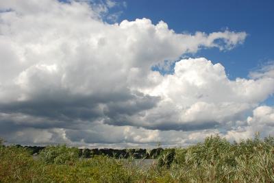 Himmel über der Elbe