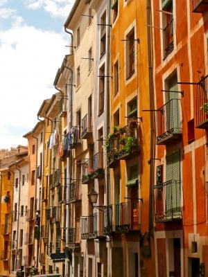 Bunte Häuser in Cuenca
