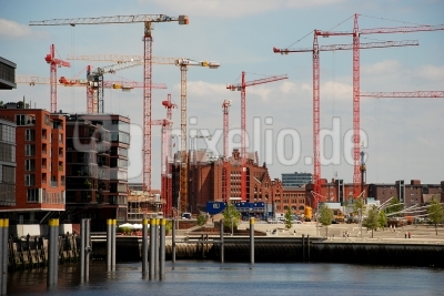 Hafencity - Kräne