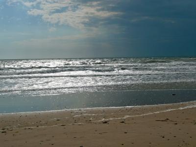 Unwetter über dem Meer