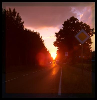 Die Sonne hat Vorfahrt