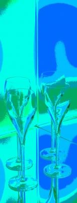 Bar Getränke türkis-blau