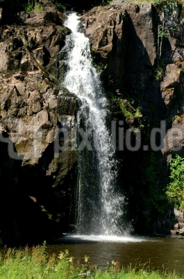 Wasserfall in Stalpet - Sommer in Südschweden
