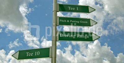 Golfplatz-Wegweiser