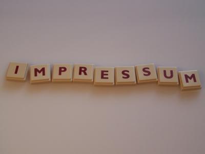 Wortbild Impressum