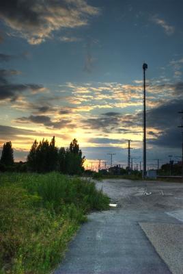 Bahnhof am Abend (HDR)