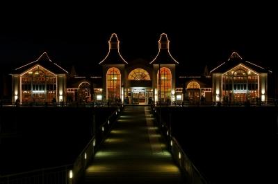 Seebrücke Sellin bei Nacht