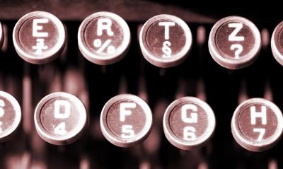 Schreibmaschine von früher