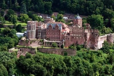 Schloss Heidelberg vom Heiligenberg