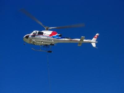 Hubschraubertransport für die Capane de Moiry / 3