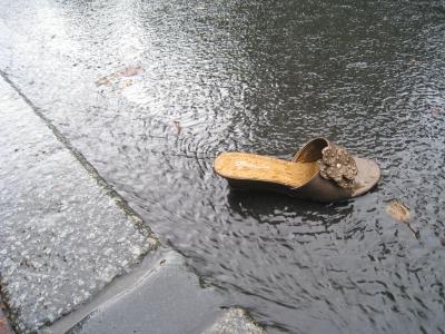 Schuh verloren