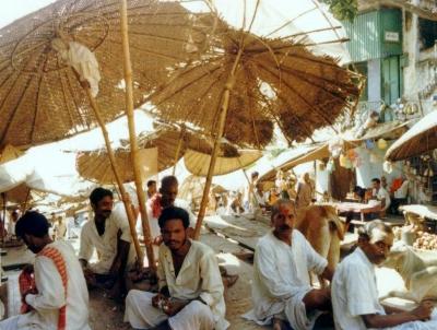 In der heiligen Stadt Varanasi ( Benares ) in Indien