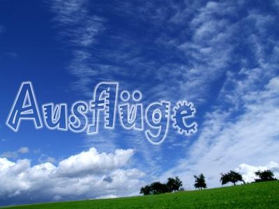 Himmel und Grün, Text Ausflüge