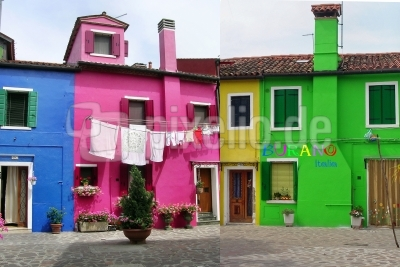 die bunten Häuser von Burano . . .