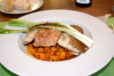 Fischvariationen auf Süßkartoffeln 1