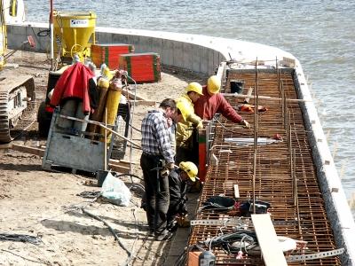Hafencity - Baustelle Dalmannkaitreppen