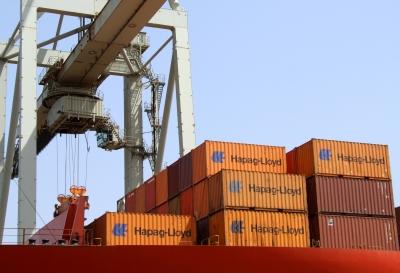 Container-Verladung Hapag-Lloyd
