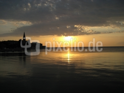 Sonnenuntergang bei Porec