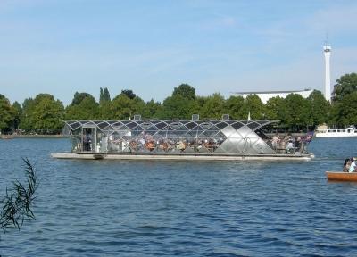 Solarboot auf dem Maschsee / Hannover