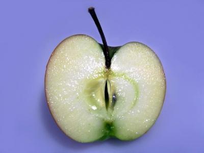Saftige Apfelhälfte