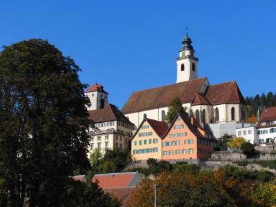 Kirche und historische Gebäude in Horb am Neckar