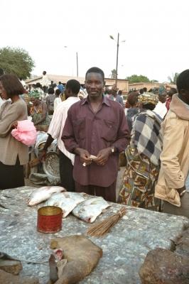 Fischverkäufer in Dakar