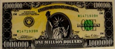 eine Million Dollar - 1.000.000.-- Dollar