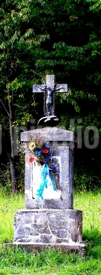 Kreuz im Wald bei Bärnfels