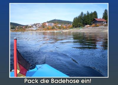Aira's Postkarten - Pack' die Badehose ein!