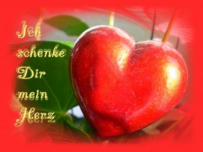 Aira's Postkarten - Ich schenke Dir mein Herz